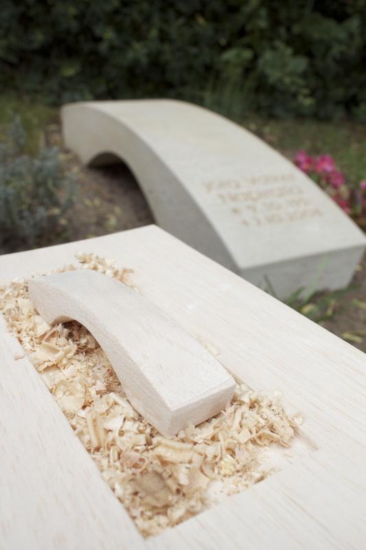 Modell des Grabmals, das zur Formfindung und Präsentation des Entwurfs erstellt wurde.